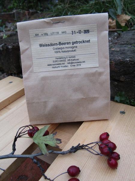 Weissdorn Beeren ganz getrocknet