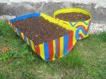 Garten gestalten und viel Geld sparen. fertige Blumenkisten