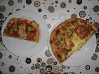 1. August 2 teller mit Schweizer Pizza