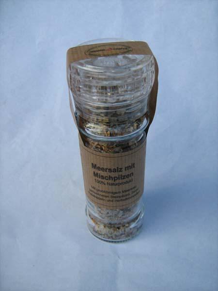 Pilz-Salz Meersalz+Mischpilze Mühle e70g