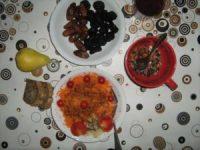 Rohkost Datteln und Karotten