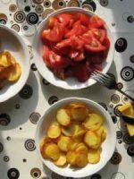 Junge Kartoffeln goldbraun