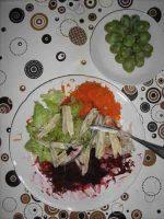 Wintersalat mit Fisch