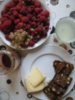 Himbeeren zum Rohkost Frühstück