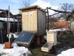Solartrockner trocknen auch Beinwell Wurzeln