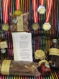 5 Gold- Silber u Bronze-Medaillen in Wieselburg hier bei Alten-Wohnheim & Landhotel im Permakulturgarten