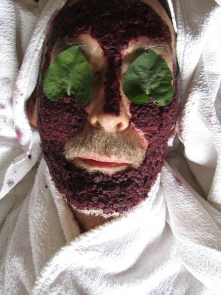 Grosses Detox Set Gesichtsmaske mit Schlehen-Mus