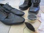mit schwarze natur Schuhcreme Schuhe nachhaltig pflegen