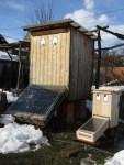2 Solartrockner trocknen die Johanniskrautblüten fuer Bären Balsam