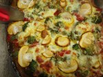 backe Pizza mit Kaiserling Pilzen