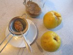 Quitten Tee mit Quittenschalen 1 TL pro Teetasse