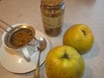 Quittenschalen Tee 10 Min ziehen lassen