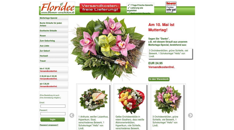 Blumenversand Florideede  Versandkostenfrei Blumen
