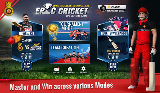 RCB Epic Cricket – The Official Game 0.10 cheathackgameplayapk modresources generator 1