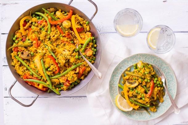 Vegetarische Paella - - rein pflanzlich, ohne raffinierten Zucker, glutenfrei, vegetarisch, vegan - de.heavenlynnhealthy.com