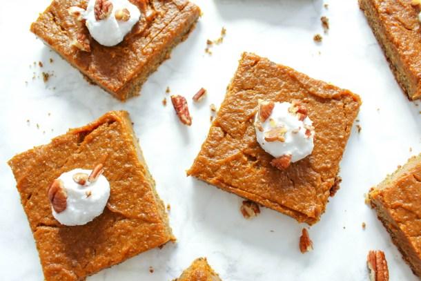 Gesunde Pumpkin Pie Squares