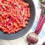 Cremige Rote Bete und Kurkuma Pasta