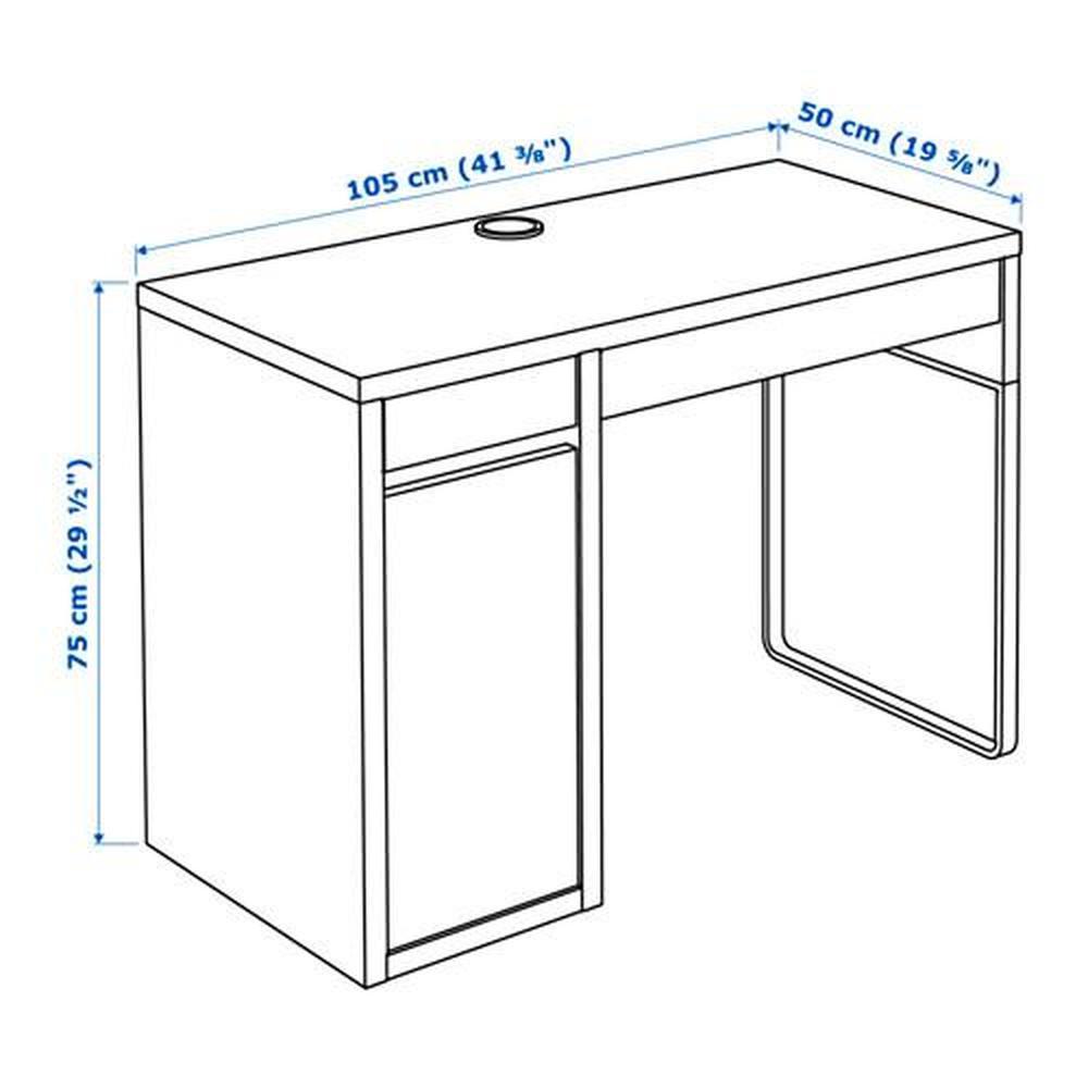 MICKE Schreibtisch weiß 105x50x75 cm (802.130.74