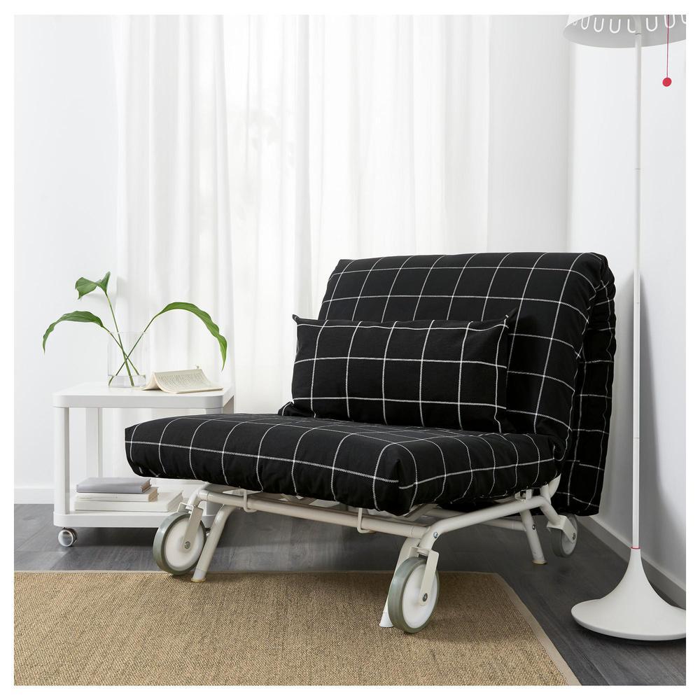 IKEA  PS KHOVET Armlehnstuhl  Rute schwarz Rute schwarz