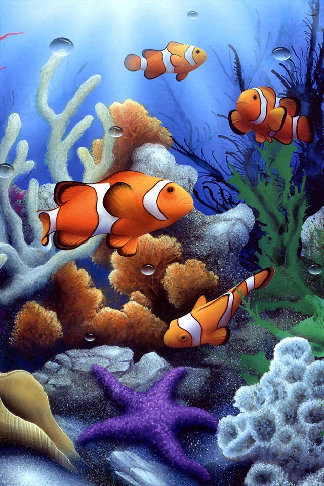 Cute Fish Iphone Wallpaper Bunte Unterwasserwelt Korallen Und Fische Iphone X 8 7 6 5