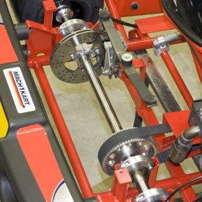Zahnriemenantrieb und Bremsanlage