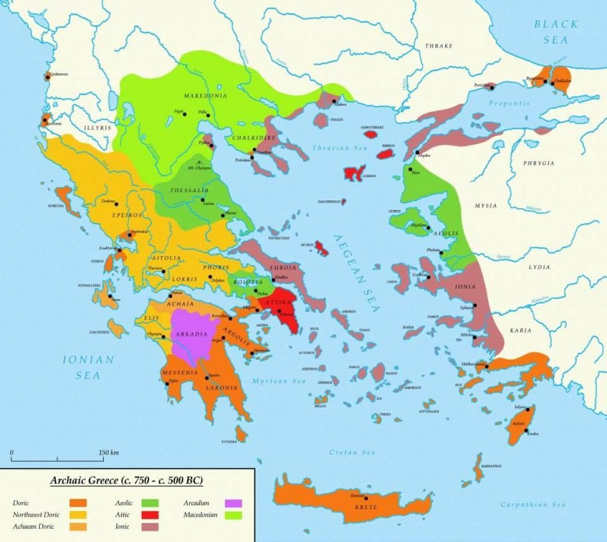 Athen Das Antike Griechenland Karte