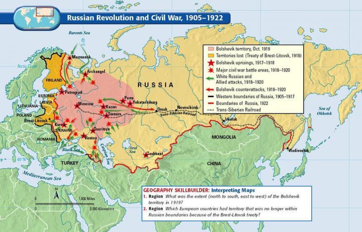 Russische Revolution Map