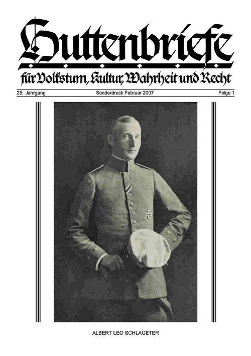 Albert Leo Schlageter – ein deutscher Freiheitskämpfer, Huttenbriefe Sonderdruck Februar 2007 - 01.jpg