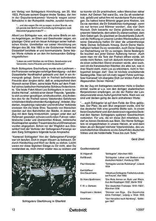 Albert Leo Schlageter – ein deutscher Freiheitskämpfer, Huttenbriefe Sonderdruck Februar 2007 - 12.jpg