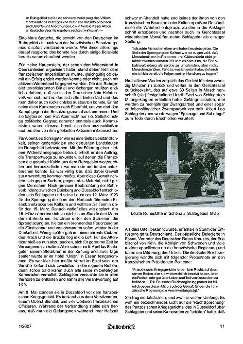Albert Leo Schlageter – ein deutscher Freiheitskämpfer, Huttenbriefe Sonderdruck Februar 2007 - 11.jpg