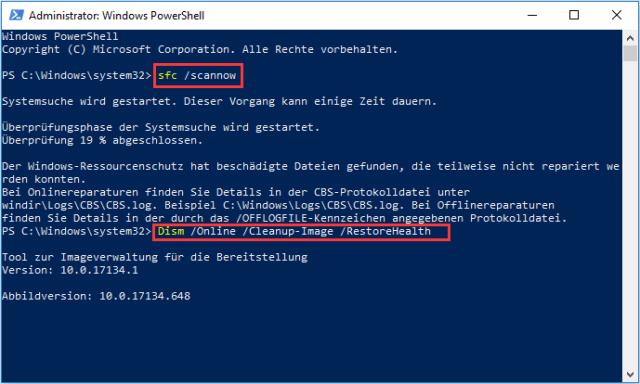 Windows-Dateien überprüfen