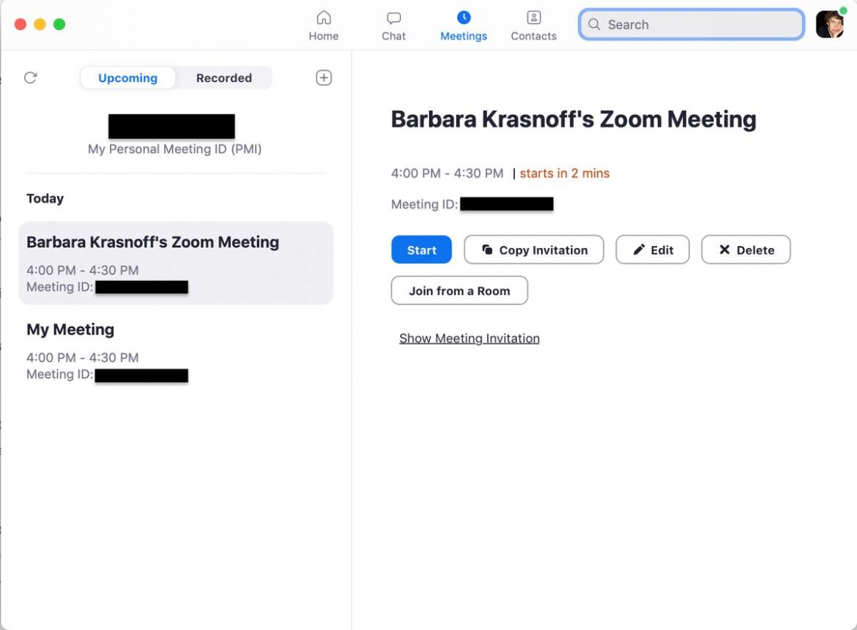 Wie bei der Webversion haben Sie viele Möglichkeiten, ein Meeting zu planen