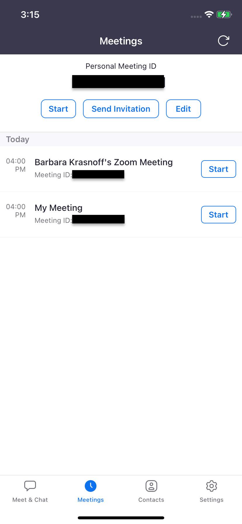 """Wie bei der Webversion können Sie mit """"Besprechungen"""" eine Einladung senden"""