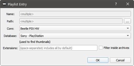 Retroarch funktioniert nicht Eintragsdetails