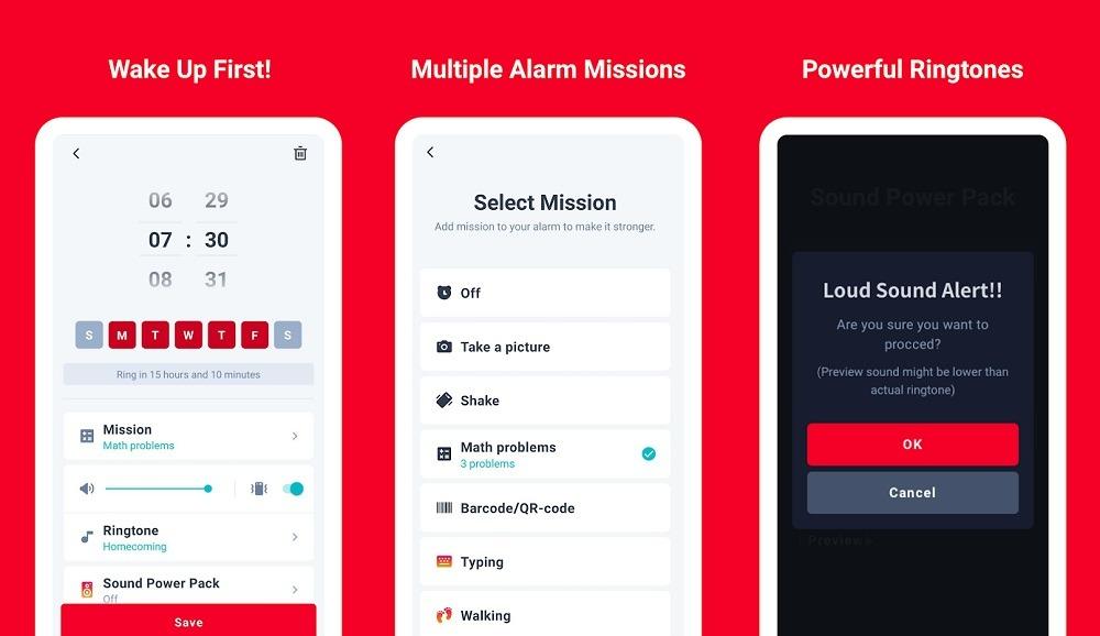 Alarmy Wecker App