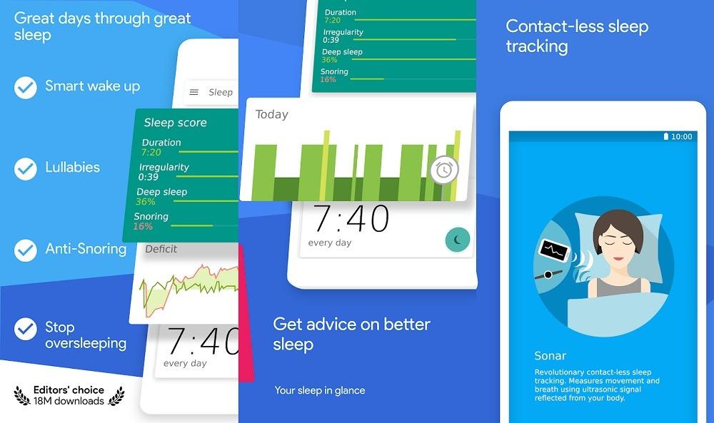 Schlafen als Android-App