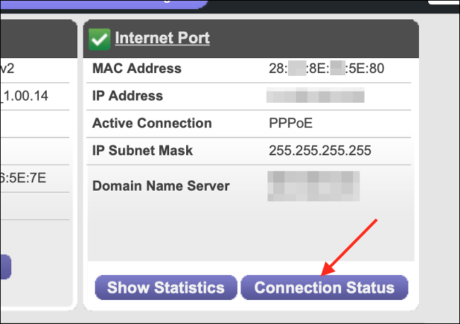 Routerstatus für Netzwerkverbindung