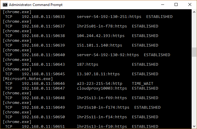 check-ports-in-use-windows-10-192-168-xx