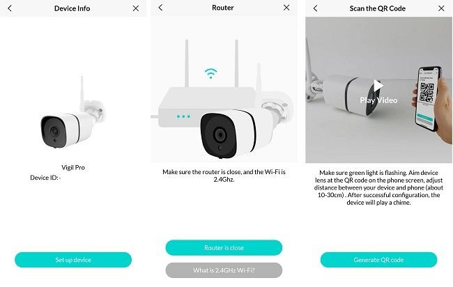 Netvue Vigil Pro Outdoor-Überwachungskamera-Überprüfungs-App