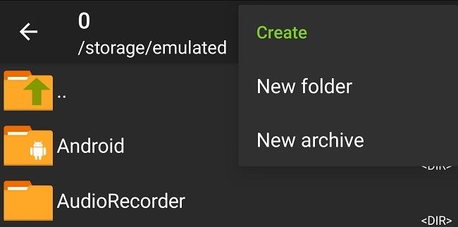 Komprimieren und extrahieren Sie Dateien auf Android mit Zarchiver New