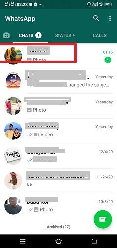 SMS ausblenden Anrufe WhatsApp Kontakt hinzugefügt