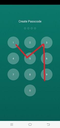 Verbergen Sie SMS-Anrufe WhatsApp-Passcode erneut eingegeben