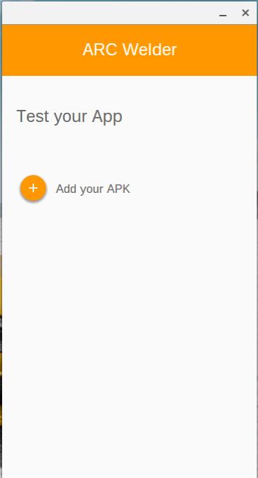 Fügen Sie Ihre APK zu Arc Welder hinzu.