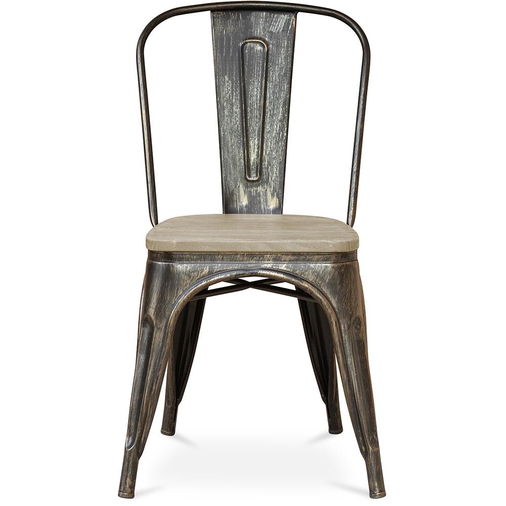 style tolix stuhl metall und helles holz