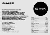 Sharp EL-1801C: Herunterladen Bedienungsanleitungen