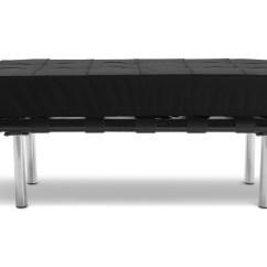Barcelona Sectional Sofa Ottoman Melanie Bobs Furniture Sitzbank Mies Van Der Rohe