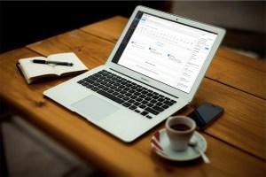 laptop on desk