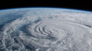 color of storm from space