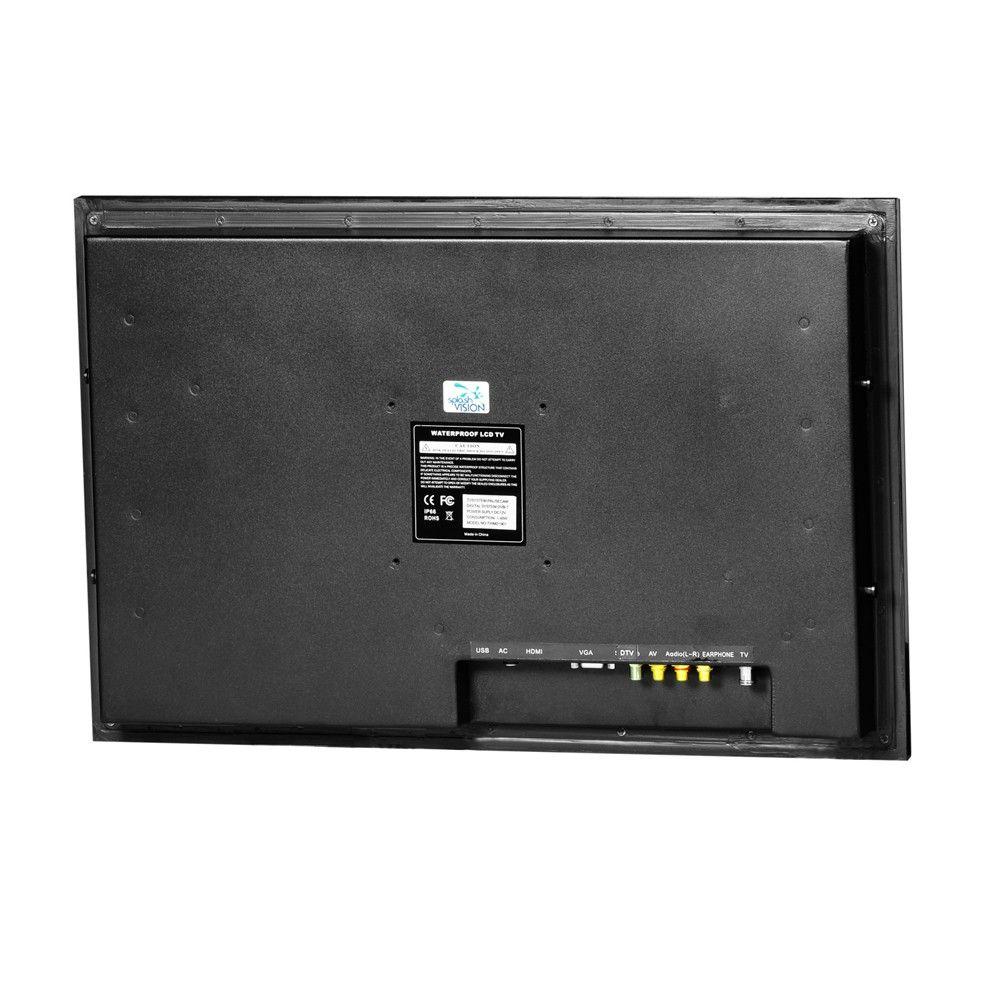 Badezimmer LED TV 26 Zoll mit DVBC und DVBS2 tuner fr DigitalTV via CI modul SplashVision