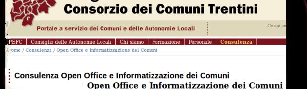 Il consorzio dei comuni del Trentino apre uno sportello assistenza su OpenOffice